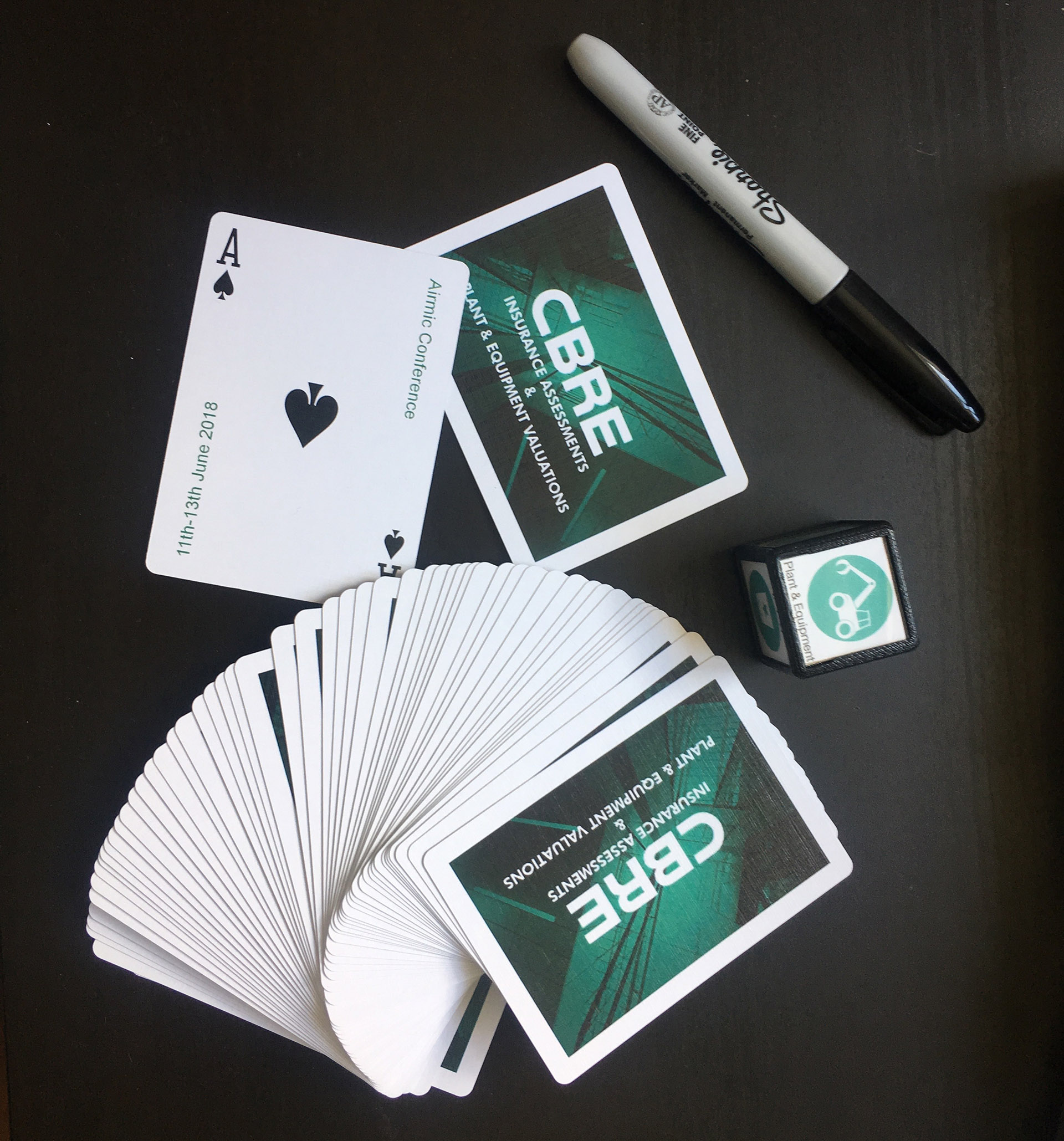 CBRE branded deck of cards